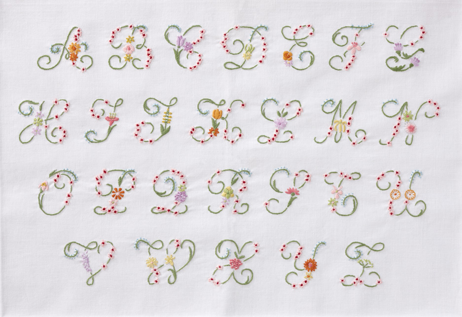 DMC Embroidery Kit  Flower Letter Alphabet  EBay