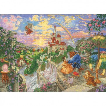 Disney Dreams Collection Beauty and Beast Counted Cross Stitch Kit