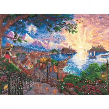 Disney Dreams Collection Pinocchio Wishes Upon A Star Counted Cross Stitch Kit