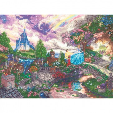 Disney Dreams Collection Cinderella Wishes Counted Cross Stitch Kit