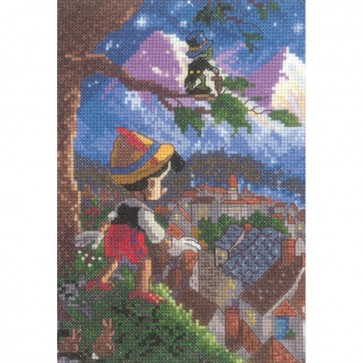 Disney Dreams Collection Pinocchio Counted Cross Stitch Kit
