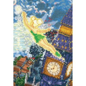 Disney Dreams Collection Tinker Bell Counted Cross Stitch Kit