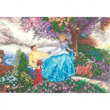 Disney Dreams Collection Cinderella Counted Cross Stitch Kit