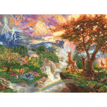 Disney Dreams Collection Bambi's 1st Year Counted Cross Stitch Kit