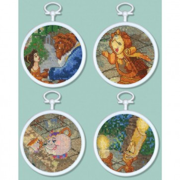 Disney Dreams Collection Beauty and The Beast Mini Vignettes Counted Cross Stitch Kit