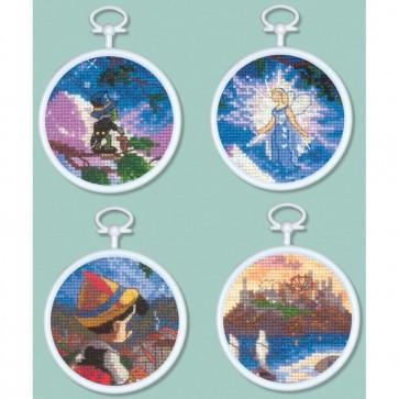 Disney Dreams Collection Pinocchio Mini Vignettes Counted Cross Stitch Kit