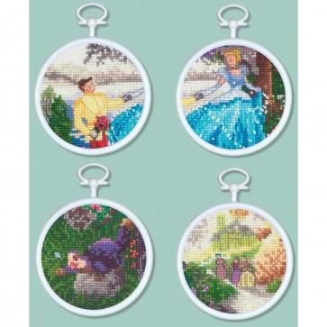 Disney Dreams Collection Cinderella Mini Vignettes Counted Cross Stitch Kit