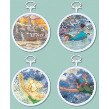 Disney Dreams Collection Peter Pan Mini Vignettes Counted Cross Stitch Kit