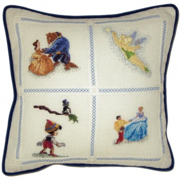 Disney Dreams Collection Tinker Bell Pillow Counted Cross Stitch Kit