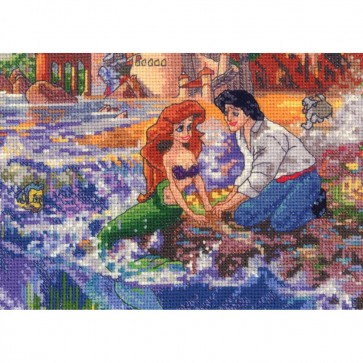 Disney Dreams Collection Little Mermaid Counted Cross Stitch Kit