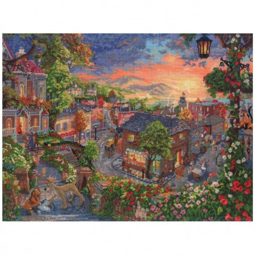 Disney Dreams Collection Lady and The Tramp Counted Cross Stitch Kit