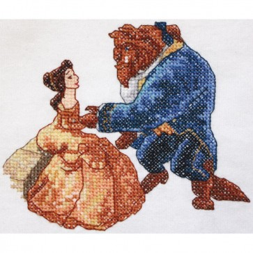 Disney Dreams Beauty and Beast Counted Cross Stitch Kit
