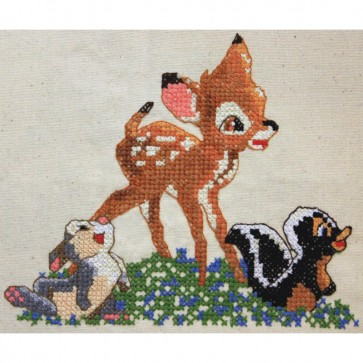 Disney Dreams Bambi Counted Cross Stitch Kit