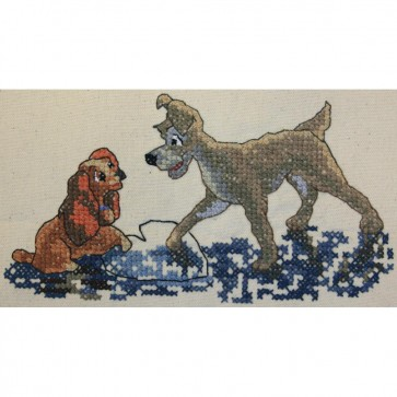Disney Dreams Lady and The Tramp Counted Cross Stitch Kit