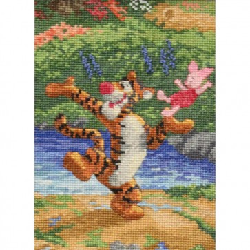 Disney Dreams Collection Tigger And Piglet Counted Cross Stitch Kit