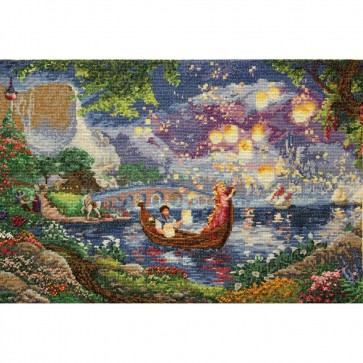 Disney Dreams Collection Tangled Counted Cross Stitch Kit