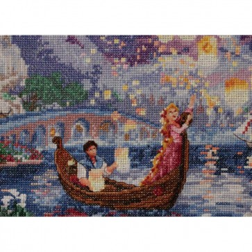 Disney Dreams Collection Tangled Vignette Counted Cross Stitch Kit