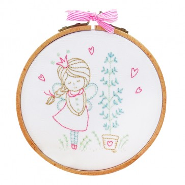 DMC Printed Embroidery Kit - Shy Fairy