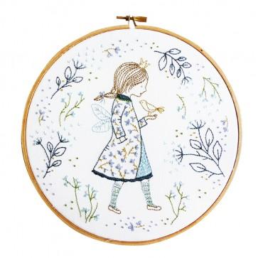 DMC Printed Embroidery Kit - Winter Fairy