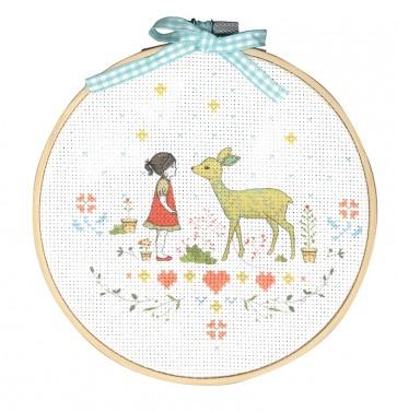 DMC Printed Cross Stitch Kit - Nature Girl