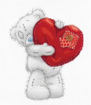 DMC Printed Cross Stitch Kit - Me to You - Heart