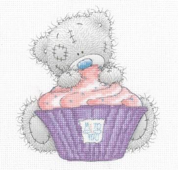 DMC Printed Cross Stitch Kit - Me to You - Cupcake