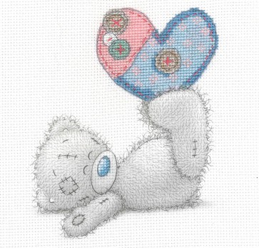 DMC Printed Cross Stitch Kit - Me to You - Patchwork Heart