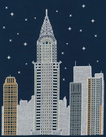 DMC Cross Stitch Kit - Mr X Stitch - New York by Night
