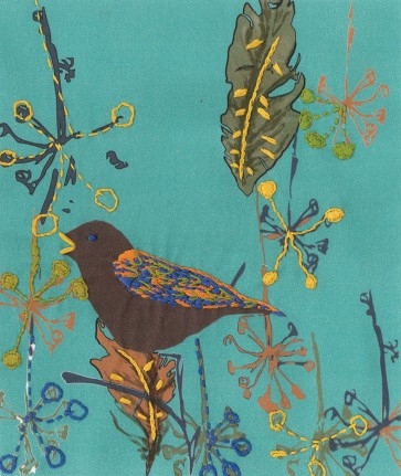 DMC Printed Embroidery Kit - On The Wing - Song Bird