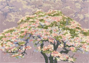 DMC Counted Cross Stitch Kit - Cherry Blossom William Giles
