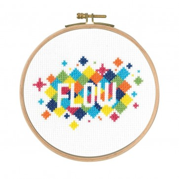 DMC Counted Cross Stitch Kit - Flow