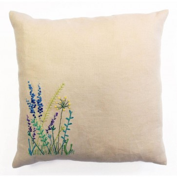 DMC Embroidery Cushion Kit - Meadow Sweet - Wild Flowers