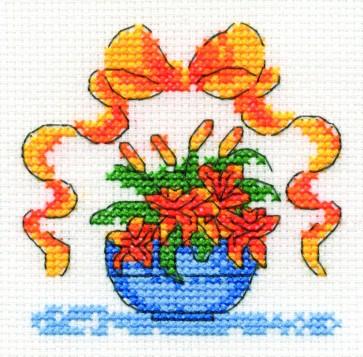 DMC Cross Stitch Kit - Mini Flowers Kit - Tiger Lily