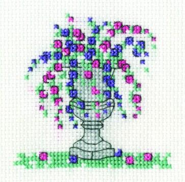 DMC Cross Stitch Kit - Mini Flowers Kit - Petunia
