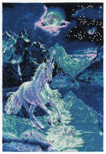 DMC Cross Stitch Kit - Fantasy - Unicorn