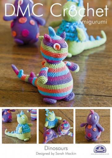 DMC Amigurumi Dinosaurs Crochet Pattern 14899L/2