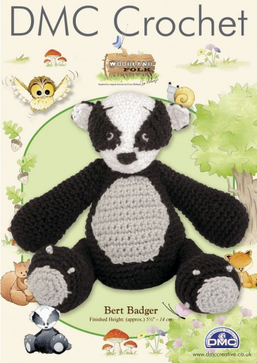 DMC Amigurumi Crochet Bert Badger Kit - Woodland Folk
