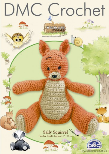 DMC Amigurumi Crochet Sally Squirrel Kit - Woodland Folk