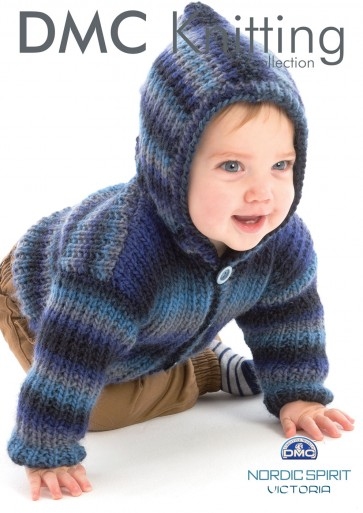 Baby Boy's Hooded Cardigan Knitting Pattern