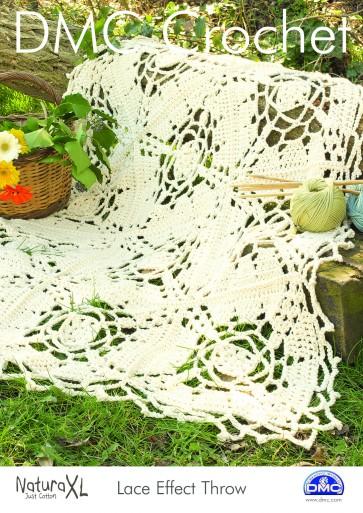 DMC Crochet Pattern - Lace Effect Throw 15231L/2