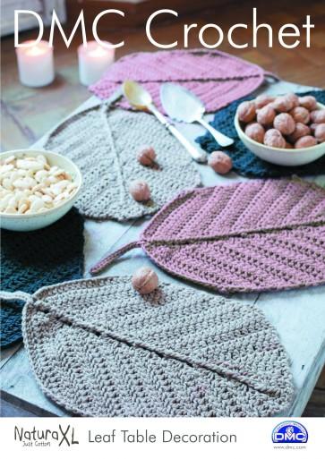 DMC Crochet Pattern - Leaf Table Decoration 15233L/2