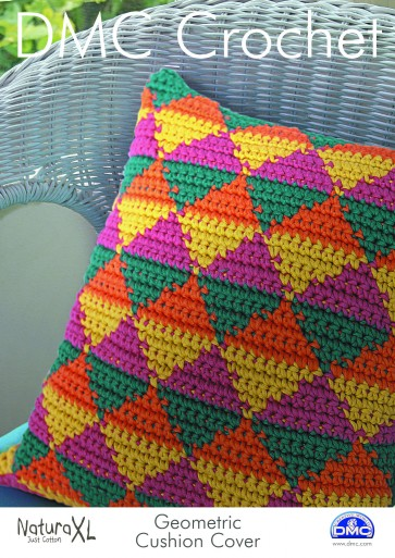 DMC Crochet Pattern - Geometric Cushion Cover 15235L/2