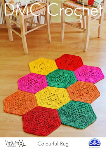 DMC Crochet Pattern - Colourful Rug 15236L/2