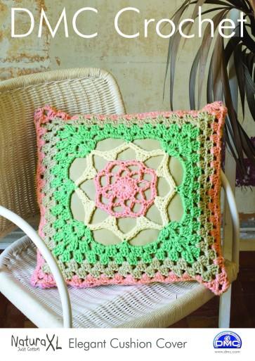 DMC Crochet Pattern - Elegant Cushion Cover 15238L/2