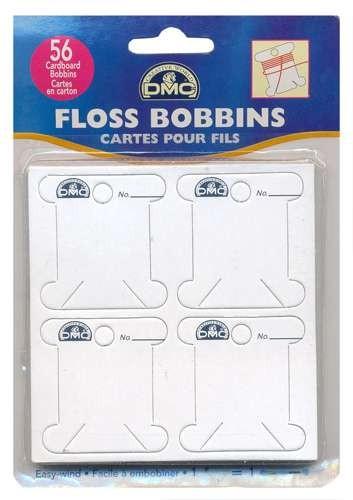 DMC Cardboard Floss Bobbins Pack Of 56
