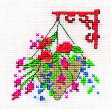 Spring Hanging Basket - Mini Flowers Kit - BK982-G