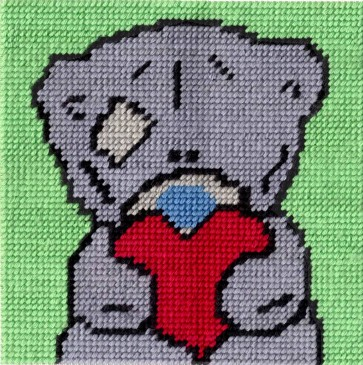 DMC Tapestry Kit - Tatty Ted - Big Heart