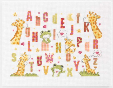 DMC Cross Stitch Kit - Childrens - Giraffe Sampler