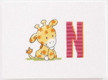 DMC Cross Stitch Kit - Childrens - Giraffe Initial