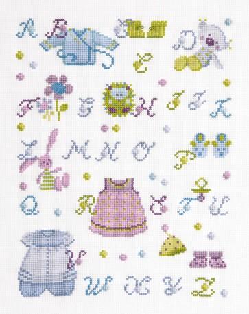 DMC Cross Stitch Kit - Sampler - My Clothes And Soft ABC